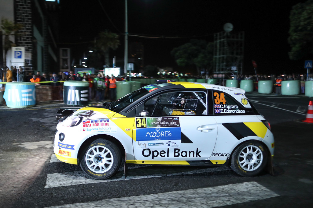 34 INGRAM Chris EDMONDSON Elliot Opel Adam R2 Action during the 2017 European Rally Championship ERC Azores Rally - Photo Jorge Cunha / DPPI