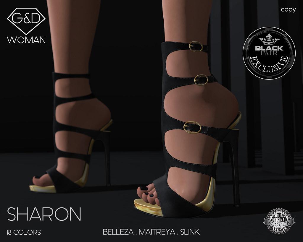 G&D Shoes Sharon Black adv - SecondLifeHub.com