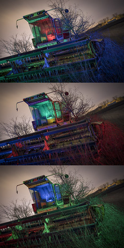 New Holland Combine Redux Triptych