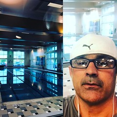 Swim time I have my routine made my coach Roberto Frossard , I AM BUSY BEING STRONGER ,@ LA Fitness Dallas #sonsofcavalcantidallas #lafitness #ricardocavalcantibjjdallas #swim
