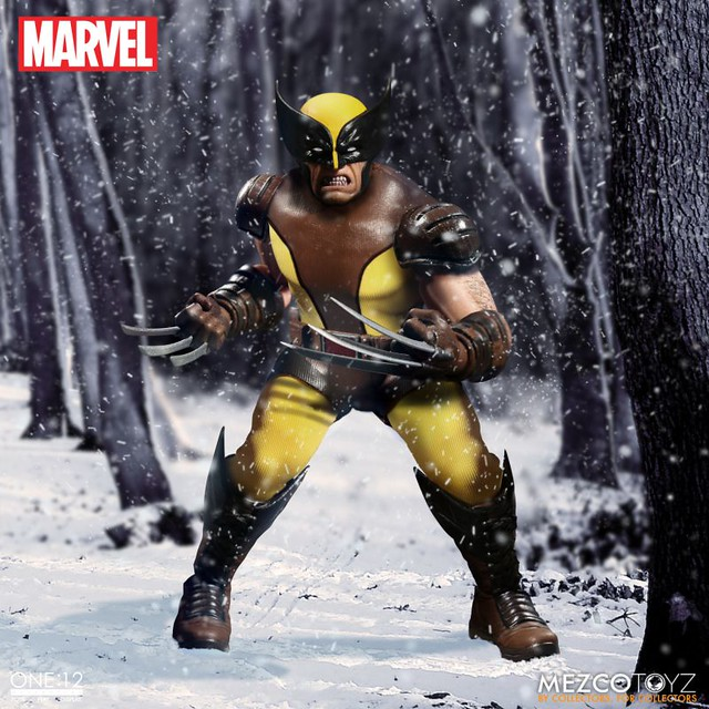 MEZCO – ONE:12 COLLECTIVE 系列【金剛狼】MARVEL Wolverine 1/12 比例人偶作品