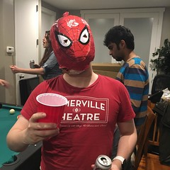 Drinking makeshift margaritas and leading a maeshift double life. #cincodemayo #spiderman