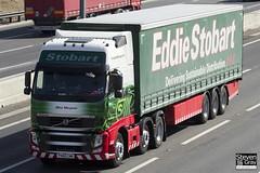 Volvo FH 6x2 Tractor - PX60 CNN - Olive Margaret - Eddie Stobart - M1 J10 Luton - Steven Gray - IMG_7585