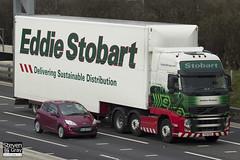 Volvo FH 6x2 Tractor - PX11 BZG - Kathleen Elizabeth - Eddie Stobart - M1 J10 Luton - Steven Gray - IMG_4863
