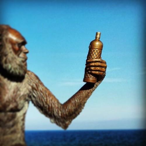 """""""...Pero en las entrañas del monte del destino, el señor oscuro forjó en secreto la botella regente. Una botella de anís del mono para atraerlos a todos, una botella para hacer música en navidades, una botella para endulzarlos y atarlos a las tinieblas je"""