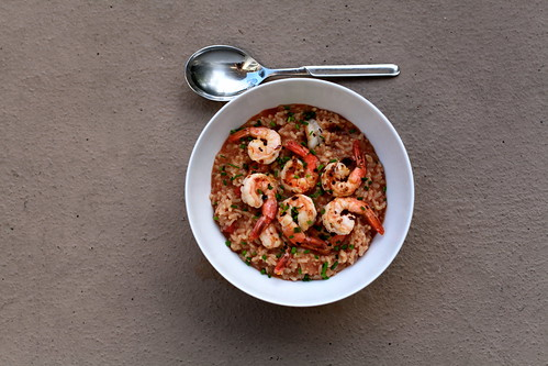 Risotto with Shrimp, Tomatoes & Chives