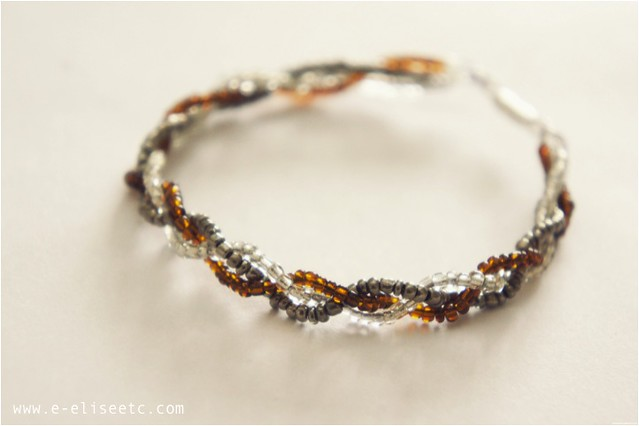 diy seed bead braid bracelet 1
