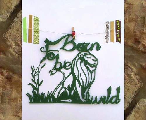 Born to Be Wild Paper Cutting