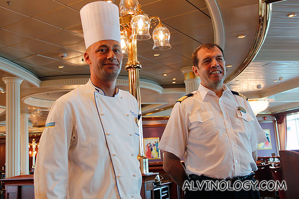 The executive chef and hotel director