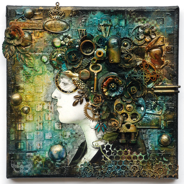 Finnabair: Once Upon a Time - mixed-media collage