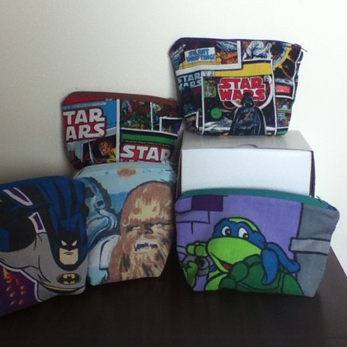 More finished pouches - all of them have square bottoms. #conprep #TMNT #starwars #batman