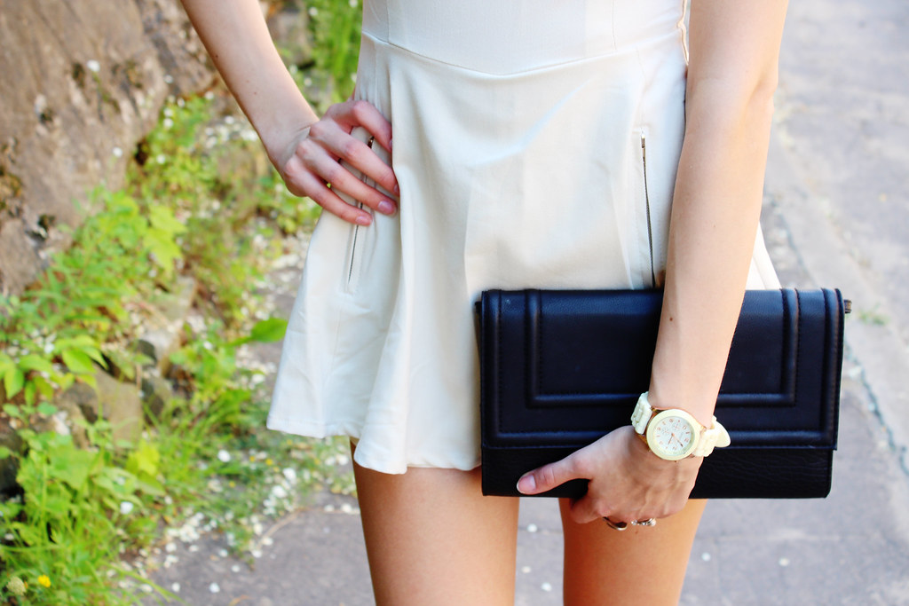 peplum, playsuit, peplum playsuit, bag, H&M, fashion, blogger