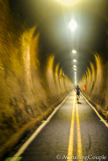 Biking in a Tunnel