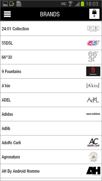 Brands Listing
