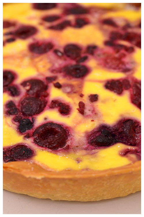 Raspberry, Ricotta and White Chocolate Tart© by Haalo