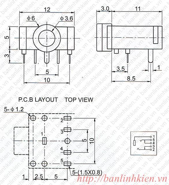 Jack Audio 3.5MM 3F07 5P ( Màu Hồng)