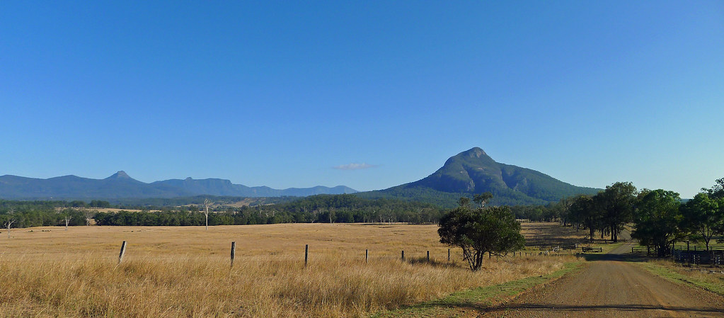 Mt Greville from Croftby Lake Moogerah Road