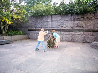 Houston and Jeannie at FDR Memorial