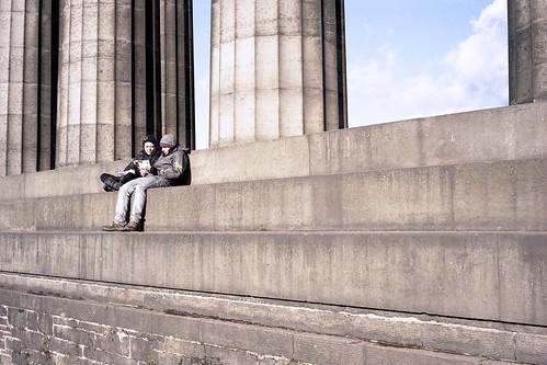 "Image titled ""People, National Monument of Scotland, Edinburgh."""