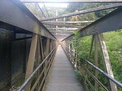 Scary metal pedestrian bridge