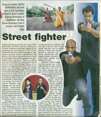 Mon, 26/08/2013 - 13:51 - Shaolin Kung Fu Warrior Kanishka Sharma on The Pioneer