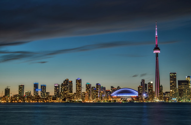 Toronto skyline at sunset, Ontario