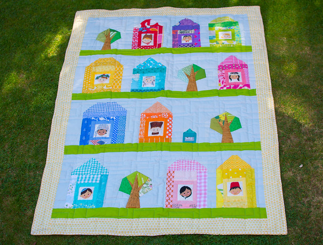 Theo's houses quilt