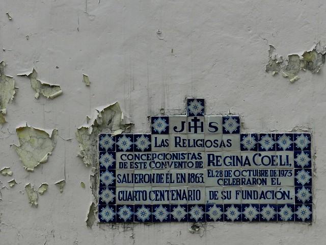 Templo del ex convento de Regina Coeli, Ciudad de México - Fachada detalle