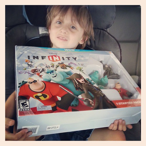 Someone saved up SIXTY gold coins for good behaviour to buy a very exciting new toy! the whole family is already loving it :) #DisneyInfinity