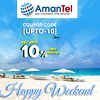 Get UPTO 10% Free Minutes Coupon code [UPTO-10], Claim your Coupon now by Amantel
