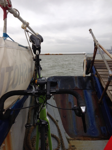 Bike on Felixstowe - Harwich Ferry.