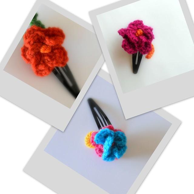 Clip flor a juego con los vestidos