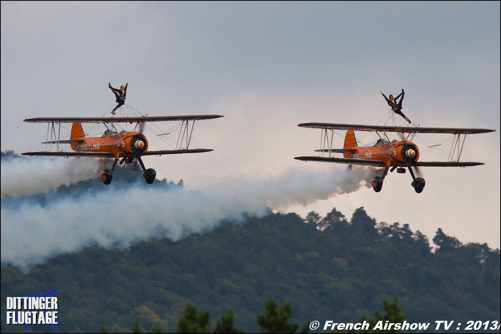 Breitling Wingwalkers at Dittinger Flugtage 2013