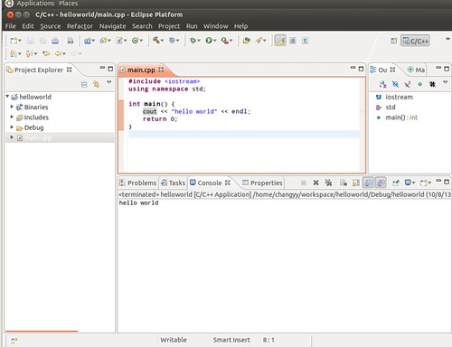 Ubuntu 12.04 Eclipse New C++ Project 10