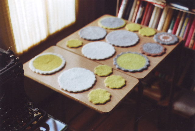 wooly coasters and trivets