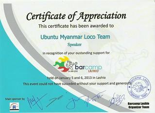 Barcamp Lashio 2012 in Ubuntu-MM