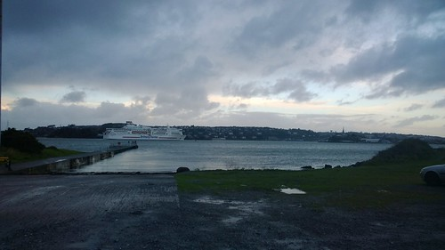 Under a grey sky. Last ferry to Roscoff until next year. by despod