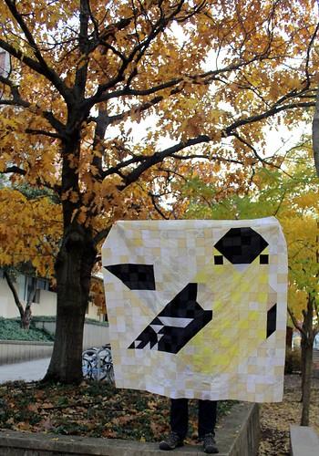 Charley Harper Goldfinch Quilt