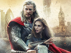 [Poster for Thor: The Dark World  with Thor: The Dark World , Alan Taylor, Chris Hemsworth, Natalie Portman, Tom Hiddleston]