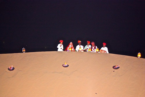our private dinner in the sand dunes couldn't have been complete without the traditional music