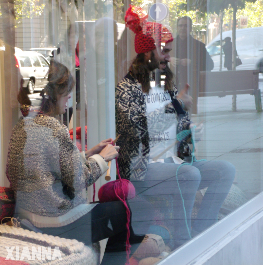 Campaña por la lana 2013, Madrid, We are knitters en Hoss Intropia
