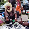 Used goods dealer with a cool hairstyle #armenianstreet #penang