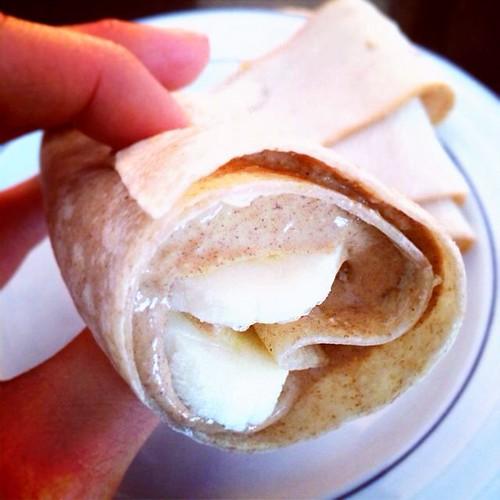 banana PB wrap
