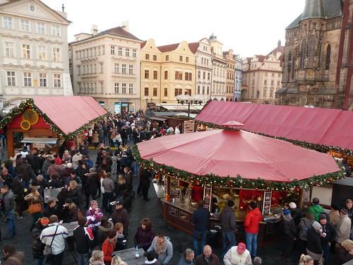 Mercadillo de Navidad de la Plaza de la Ciudad Vieja de Praga