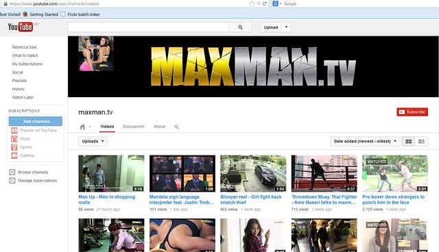 maxman TV youtube