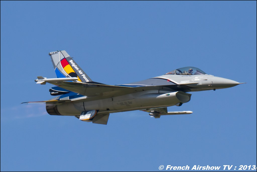 F-16 Solo Display Belge, 60 ans Patrouille de France, Meeting Aerien 2013