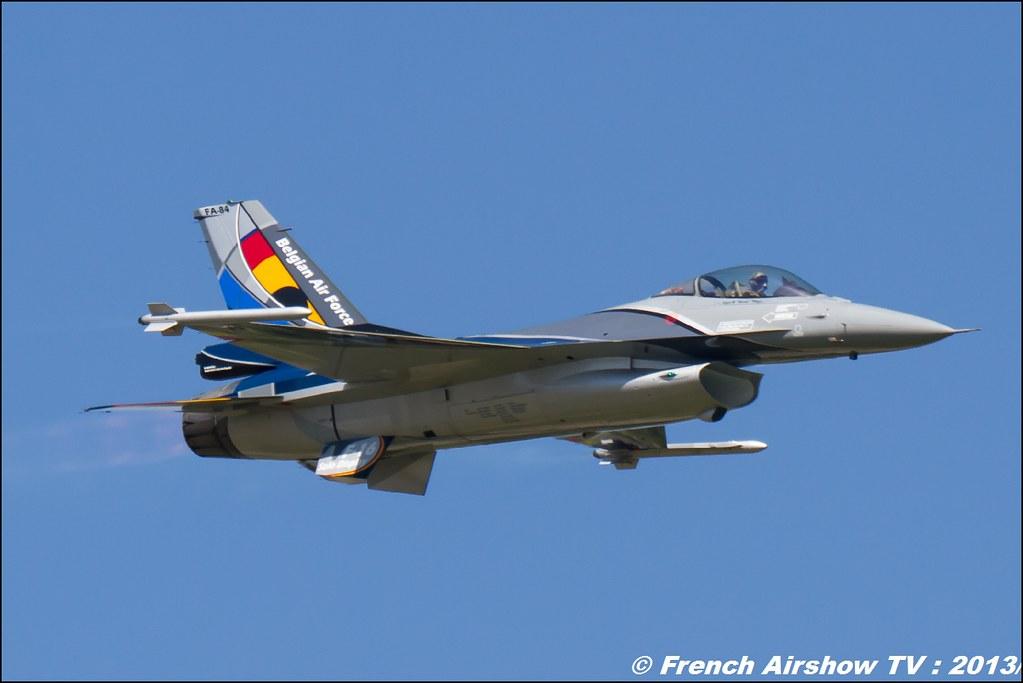 F-16 Solo Display Belge, 60 ans Patrouille de France, Meeting Aerien 2013