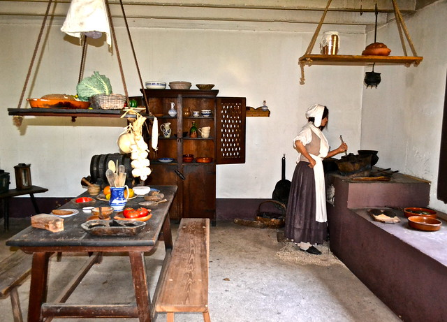 Soldiers wife at colonial spanish quarter st augustine florida