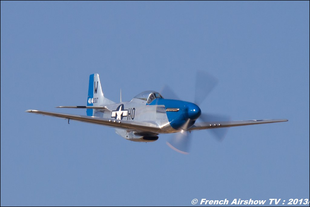 P-51D Mustang Moonbeam McSwine N2151D au Free Flight World Masters Valence 2013, Meeting aerien 2013
