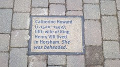 Photo of Catherine Howard stone plaque